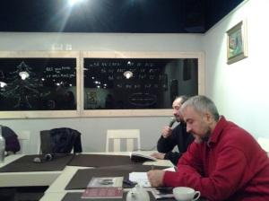 Serile Sinapsa (II); Organizatori : Florin și Diana Caragiu; partener media: fdl.ro & Victor Potra; Ligia Pârvulescu; Braseria Alouete; str. Bibescu Vodă nr. 19; diverse; poezie românească; fotografiile mele; 06.12.2014; 18:30-20:30; publicat de Bot Eugen. 07.12.2014; 12:05; București; șoseaua Pantelimon 302; sectorul 2.