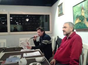 Serile Sinapsa (II); Organizatori : Florin și Diana Caragiu; partener media: fdl.ro & Victor Potra; Dan Cârlea; Braseria Alouete; str. Bibescu Vodă nr. 19; diverse; poezie românească; fotografiile mele; 06.12.2014; 18:30-20:30; publicat de Bot Eugen. 07.12.2014; 12:09; București; șoseaua Pantelimon 302; sectorul 2.
